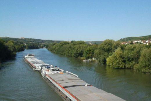 """The river """"Main"""" in Ochsenfurt"""